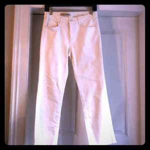 Pilcro and the Letterpress White Jeans